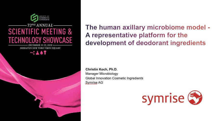 The Human Axillary Microbiome Model – A Representative Platform for the Development of Deodorant Ingredients