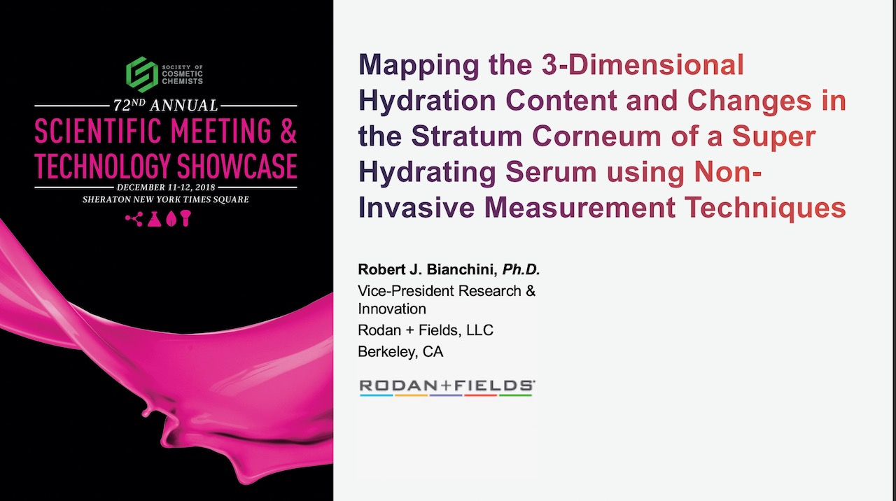 Mapping the 3-Dimensional Hydration Content and Changes in the Stratum Corneum by Topical Application of a Skin Hydration Serum Containing 3D3P-IPN