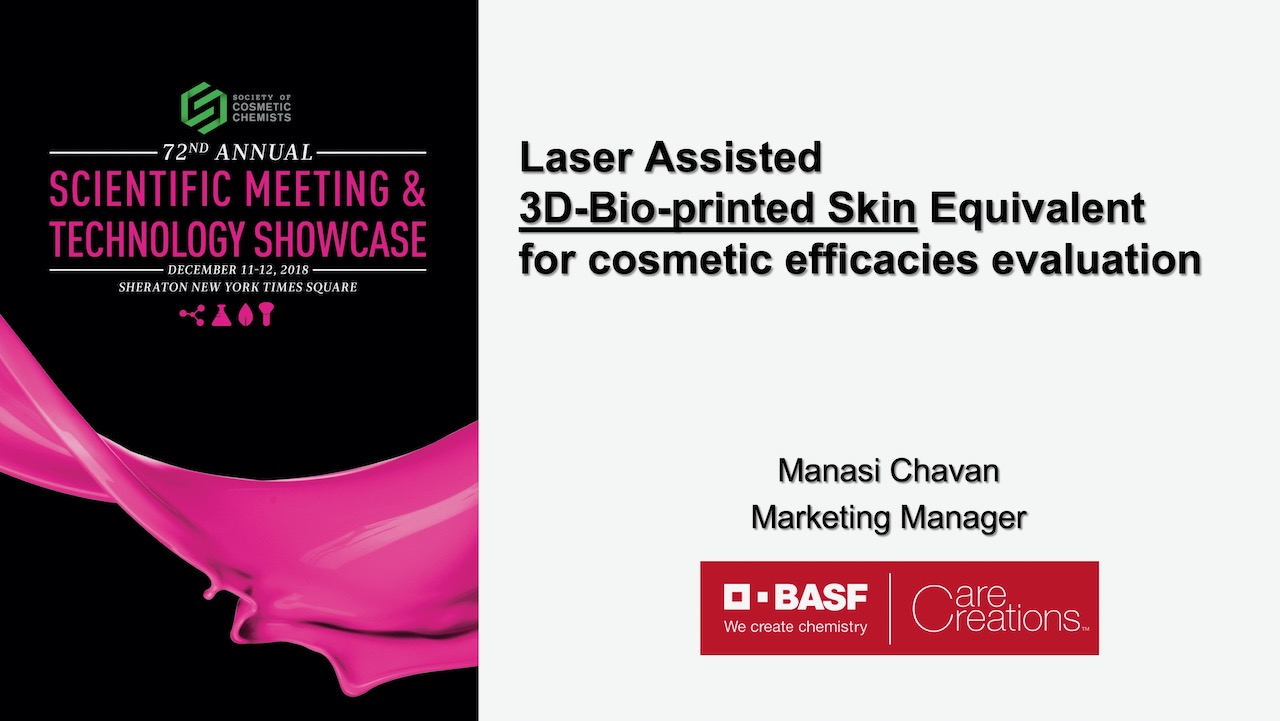 Laser Assisted Bioprinted Skin Equivalent for Cosmetic Efficacies Evaluation