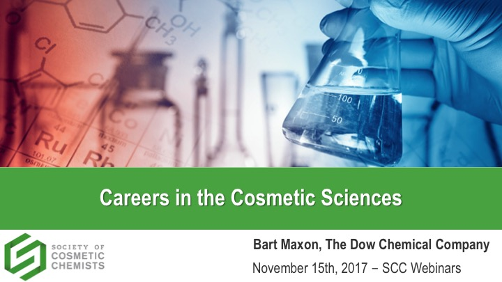 Careers in the Cosmetic Sciences