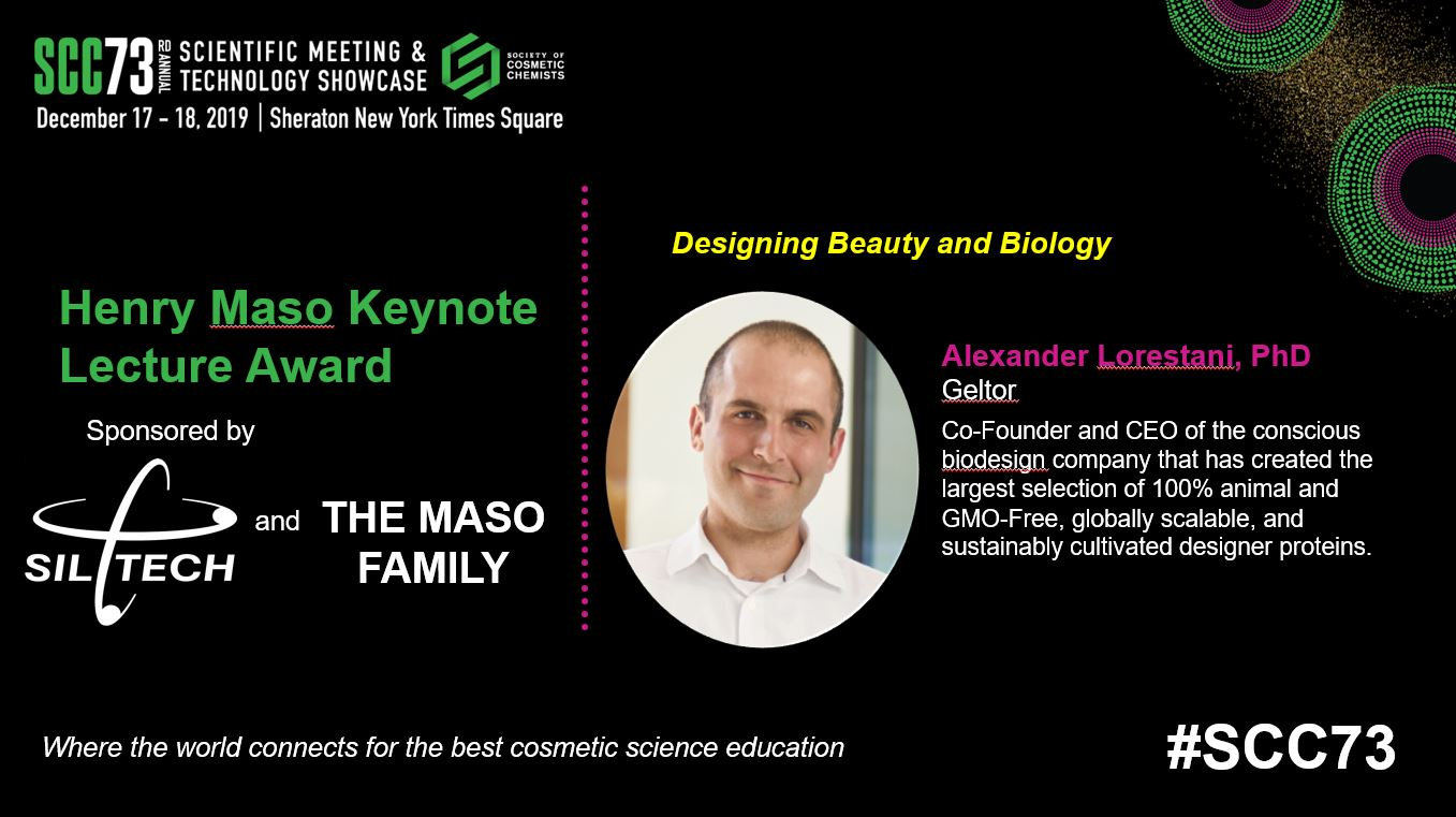 KEYNOTE LECTURE - Designing Beauty with Biology