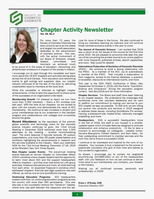 2018 SCC Chapter Activity Newsletter