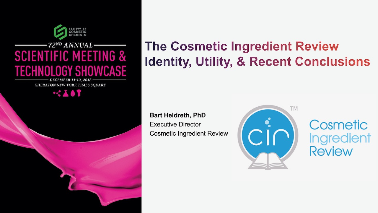 The Cosmetic Ingredient Review: Actionable Conclusions and Recent Assessments